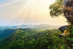 Mountains and rocks under sunshine Royalty Free Stock Image
