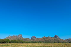 Mountains. Rocky hill and blue sky in thailand Royalty Free Stock Image