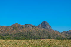 Mountains. Rocky hill and blue sky in thailand Royalty Free Stock Images