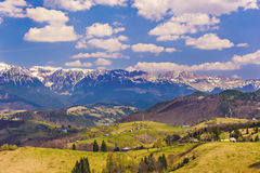 Mountains in Romania. Landscape with bucegi mountains in Romania stock images