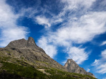 Mountains in Romsdalen Royalty Free Stock Image