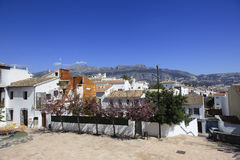 Mountains and Rooftops Spain. Mountains overlook the rooftops of villas on the Costa Blanca Spain Stock Photography