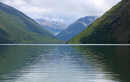 Mountains and Rotoiti Lake Royalty Free Stock Photo