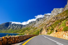 Mountains at Route 44 - Cape Town, South Africa Stock Photography
