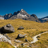 Mountains on routeburn track Stock Photography