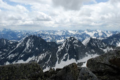 Mountains row upon row Royalty Free Stock Photography