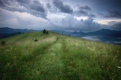 Mountains rural landscape before rain Stock Image