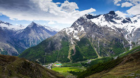 Mountains Saas Fee. The mountains around Saas Fee Switzerland Stock Photo
