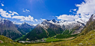Mountains Saas Fee. The mountains around Saas Fee Switzerland Royalty Free Stock Photography