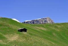 Mountains Saas Pordoi Royalty Free Stock Photography
