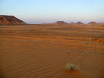 Mountains in the Sahara desert. Royalty Free Stock Image