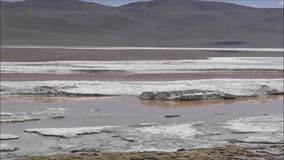 Mountains and salt flats in Atacama desert, Chile