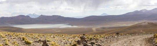 Mountains and salt pan in Eduardo Avaroa Reserve, Bolivia Stock Photography