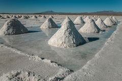 Mountains of salt royalty free stock images