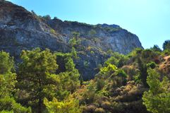 Mountains of Samos island Stock Photography