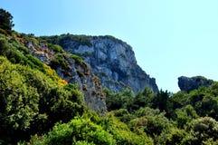 Mountains of Samos island Stock Photography