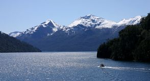 Mountains at San Carlos de Bariloche. A view of the mountains near San Carlos de Bariloche, a city in Río Negro, Argentina Stock Images