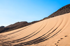 Mountains and sand in the Arabian desert Stock Photography
