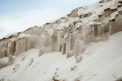 Mountains of sand close up Stock Photography