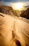 Mountains and sand dunes Royalty Free Stock Photography
