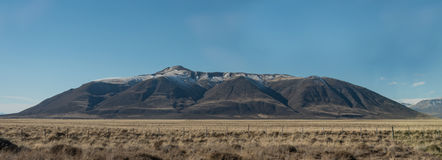 Mountains in Santa Cruz Province bordering Chile. And Argentina royalty free stock images