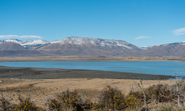 Mountains in Santa Cruz Province bordering Chile. And Argentina stock photo