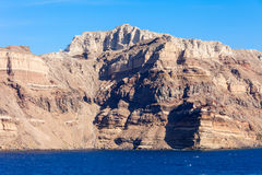 Mountains on Santorini island Royalty Free Stock Photography