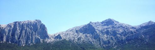 Mountains in Sardinia, Italy stock images