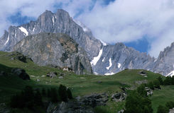 Mountains in Savoy - France Royalty Free Stock Photos