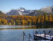 Mountains Scenic Landscape, Autumn Colors, Lake Royalty Free Stock Photos