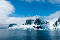 Mountains scenic view in Antarctica Royalty Free Stock Images