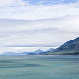 Mountains and sea. Tranquil view of mountains and sea from Queensland Rex Lookout royalty free stock photo