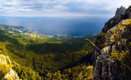 Mountains and sea. Panorama of the mountains and the sea Stock Image
