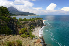 Mountains and sea around Kemer Royalty Free Stock Image