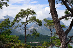 Mountains and sea around Kemer Royalty Free Stock Photos