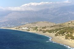 Mountains and sea on Crete Royalty Free Stock Image