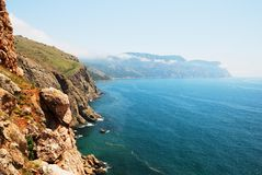 Mountains and the sea in Crimea. In summer royalty free stock image