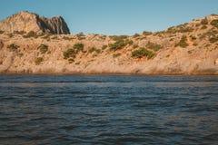 Crimean landscape. Mountains in the sea. Crimean landscape royalty free stock photo