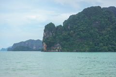 Mountains and sea in Krabi, Thailand Royalty Free Stock Images