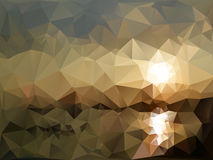 Mountains and sea landscape, triangle design Stock Images