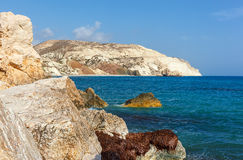 Mountains and sea near the place of birth of Aphrodite. Cyprus. Stock Photography