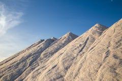 Mountains of sea salt Royalty Free Stock Photos