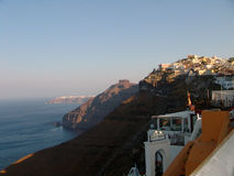 Mountains and sea view in Santorini Greece Royalty Free Stock Photography