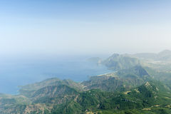 Mountains and the sea. Views of the mountains and the sea Royalty Free Stock Photography