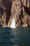 Mountains sea and yacht . Royalty Free Stock Photos