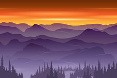 Mountains seamless background vector Stock Images