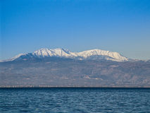 Mountains and seas in Greece Royalty Free Stock Image