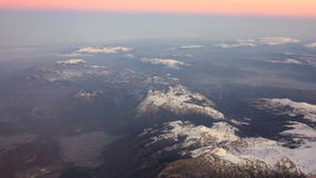 Mountains seen from above stock video footage