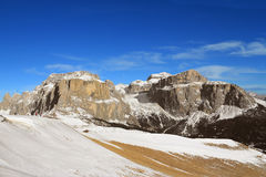 Mountains of  Sella Group Stock Photo