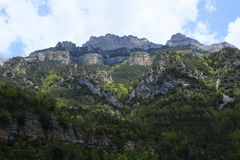 Mountains sestrales in lost mountain, pyrenees Royalty Free Stock Image